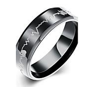 Недорогие -Муж. Серебрянное покрытие Кольцо Заявление - кисточка Очаровательный Для вечеринки Для офиса На каждый день Богемные Любовь Сердце Мода