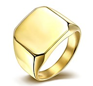 Simple Fashion Men's  Gold-Plated Titanium Steel Band  Rings(Golden,Silver)(1Pc) Christmas Gifts