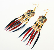 Women's Drop Earrings Tassel European Fashion Resin Feather Alloy Jewelry For Party Daily Casual