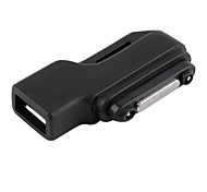 90 Degree Angled Micro USB Female to Magnetic Charging Adapter Black for Sony Z1 L39h Z2 Z3 L50T/U L50W L55T