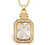 haute qualité pendentifs zircon femmes / hommes cadeau bijoux vintage plaqué or 18k mode cristal africain collier p30102
