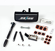 SAHOO® Bike Bicycle Cycling Puncture Tire Tyre Multifunctional Repair Tool Set Kits & Mini Pump Bag