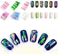 Japan And South Korea Manicure Symphony Of Irregular Broken Glass Mirror Nail Sticker Paper Platinum Aurora Glazed Paper