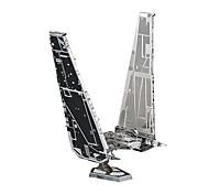 Недорогие -Kylo Ren's Command Shuttle 3D пазлы Пазлы Металлические пазлы Наборы для моделирования Космический корабль 3D Металлический сплав Металл
