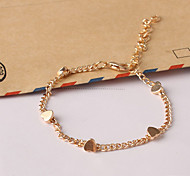 Women's New European Style Fashion Fresh Simple Heart Charm Bracelets Christmas Gifts
