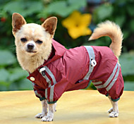 Dog Rain Coat Dog Clothes Acrylic Fibres Spring/Fall Summer Waterproof Solid Yellow Red Green Costume For Pets
