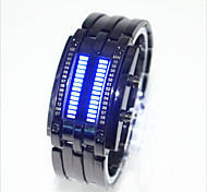 cheap -Men's Women's Couple's Digital Wrist Watch Water Resistant / Water Proof LED Alloy Band Creative Unique Creative Watch Fashion Black