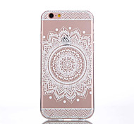 iPhone 7 Plus TPU White Flowers Pattern Transparent Back Case for iPhone 6s 6 Plus