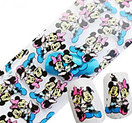 1PCS 100cmx4cm наклейки фольги блеск ногтей красивый перо прекрасный мультфильм губ ногтей украшения поделок красоты stzxk06-10