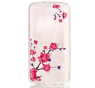 TPU + IMD Material Peach Blossom Pattern Slim Phone Case for  LG K8/K7/K4/G5