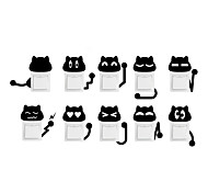 Wall Stickers Wall Decals Style Cartoon Cute Funny Cat Switch Removable PVC Wall Stickers