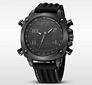 WEIDE Мужской Спортивные часы LED Календарь Защита от влаги С двумя часовыми поясами тревога Хронометр Кварцевый Японский кварц