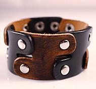 Leather Bracelets Mens Jewelry Handmade Vintage Hombre Punk Rock High Quality