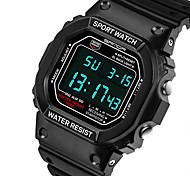 SANDA Homens Relógio Esportivo Relogio digital Quartzo Digital Quartzo Japonês LCD Calendário Impermeável alarme Luminoso Cronômetro