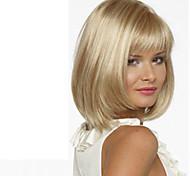 Недорогие -Парики из искусственных волос С чёлкой плотность Блондинка Карнавальный парик Парик для Хэллоуина Короткие Средние