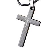 Человек ожерелье, творческий крест из нержавеющей стали, титана стали кулон - одиночный крест