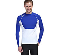cheap -Men's Diving Rash Guard Ultraviolet Resistant Compression Tactel Long Sleeves Top Diving Surfing Snorkeling