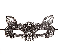 cheap -Lace Headwear Masks with Floral 1pc Wedding Special Occasion Headpiece