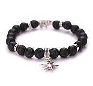 New Arrival Natural Volcano Bracelet The Starfish Pendant  Beads Bracelet  #YMGS1024