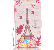PU Leather Material 3D Painting Butterfly Tower Pattern Phone Case for Samsung Galaxy J5/J510/J3/J310/G360/G530