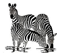 Недорогие -Животные / 3D Наклейки Простые наклейки Декоративные наклейки на стены,vinyl материал Съемная / Положение регулируется Украшение дома