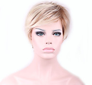 Недорогие -жен. Парики из искусственных волос Без шапочки-основы Прямые Естественные прямые Блондинка Волосы с окрашиванием омбре Карнавальный парик