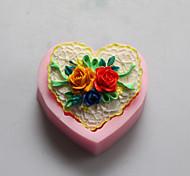 формы сердца цветка шоколада силиконовые формы, формы торта, мыло формы, отделочные инструменты Формы для выпечки