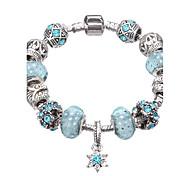 Fine Silver Beads Strands Bracelet Flower Pendants Jewelry for Lady #YMGP1028 Christmas Gifts