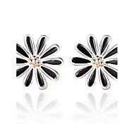 2016 Korean Women 925 Silver Sterling Silver Jewelry Acrylic Daisy Earrings Stud Earrings 1Pair