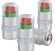 abordables -quatre pression capuchon métallique des pneus installés pneu surveillance bouchon de valve de pression