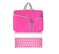 "Handbag for MacBook Pro 13"" with Retina display Solid Color Canvas Material Top Selling Solid Color Canvas Zipper bag with Keyboard Cover"