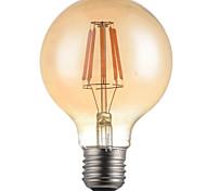 5W E26/E27 Lampadine LED a incandescenza G95 6 LED ad alta intesità 500-550 lm Bianco caldo 2700 K Decorativo AC 220-240 V