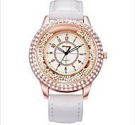 Mulheres Relógio de Moda Relógios Femininos com Cristais Quartzo Relógio Casual Lega Banda Preta Branco Vermelho Rosa Rose