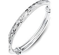 Недорогие -Жен. Браслет цельное кольцо Любовь Мода Стерлинговое серебро Прочее Сердце Бижутерия Бижутерия