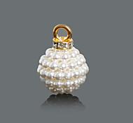 Beadia 20x27mm ABS Imatation Pearl Charm Pendant (10Pcs)