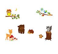 Недорогие -Животные Наклейки Простые наклейки Декоративные наклейки на стены,PVC материал Съемная / Положение регулируется Украшение домаНаклейка на