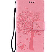 cheap -PU Leather Material Cat and Tree Pattern Phone Case for Sony Xperia Z5/Z4/Z3/M5/M4/M2/C6/C5/X/XA