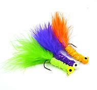 Fishing-10pcs pcs Dark Blue / Green / Orange Aluminium / Carbon steel / Feather-AnmukaSea Fishing / Bait Casting / Ice Fishing / Other /