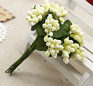 cheap -12 Branch Silk Plastic Fruit Tabletop Flower Artificial Flowers