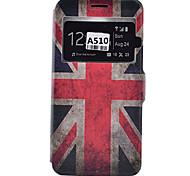 Para Samsung Galaxy Capinhas Porta-Cartão / Antichoque / Anti-poeira / Com Suporte Capinha Corpo Inteiro Capinha Bandeira Macia Couro PU