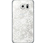 White Flower Pattern Soft Ultra-thin TPU Back Cover For Samsung GalaxyS7 edge/S7/S6 edge/S6 edge plus/S6/S5/S4