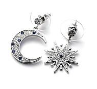 Women's Drop Earrings Fashion Luxury Mismatch Copper Imitation Diamond Star Jewelry For Daily Casual