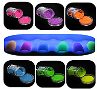 cheap -1 Set Nail Art Beautiful Noctilucent Powder Colorful Color Glitter Shining Nail Beauty Decoration YG01-06