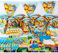 роскошь Винни Пух 78pcs день рождения украшения малышей evnent украшения поставкы партии партия 6 человек используют