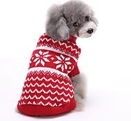 Недорогие -Кошка Собака Свитера Рождество Одежда для собак В полоску Красный Синий Хлопок Костюм Для домашних животных Муж. Жен. Очаровательный