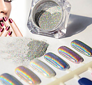 2g/Box Nail Glitter Powder Shinning Mirror Eye Shadow Makeup Powder Dust Nail Art DIY Chrome Pigment Glitter