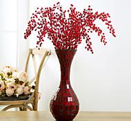 cheap -1 Branch Plastic Plants Floor Flower Artificial Flowers