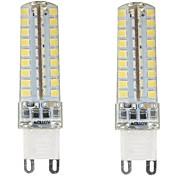 Недорогие -2pcs 4.5W 350-400lm G9 Двухштырьковые LED лампы T 72 Светодиодные бусины SMD 2835 Диммируемая Водонепроницаемый Декоративная Тёплый белый