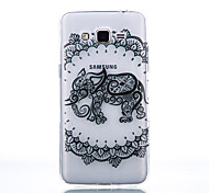 TPU Material Elephant Pattern Cellphone Case for Samsung Galaxy J7/J510/J5/J310/G530/G360