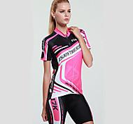 Недорогие -Mysenlan Велокофты и велошорты Жен. Короткие рукава Велоспорт Наборы одеждыБыстровысыхающий Ультрафиолетовая устойчивость
